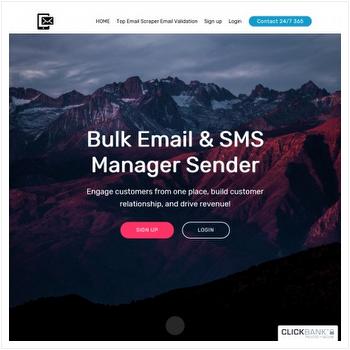 Bulk Email SMS Sender Manager